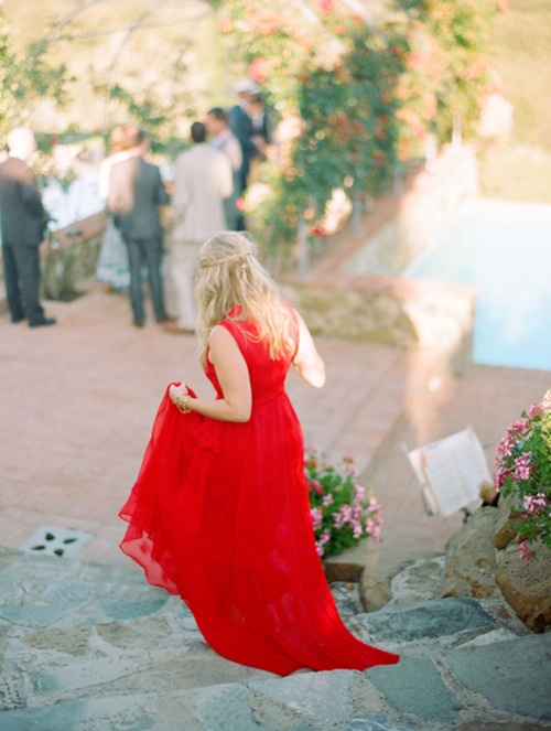 Bridesmaid, Red, Wedding