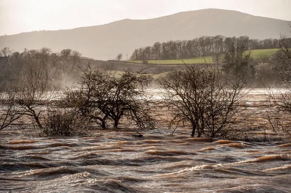 Malvern from Kempsey during the 2014 floods!