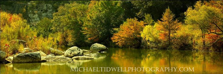 "English Crossing 20"" x 40"" Canvas Print by Michael Tidwell Photography. English Crossing 20"" x 40"" Canvas Print by Michael Tidwell Photography on 0.75"" stretcher bars. Stunning photograph captured west of San Antonio Texas on the Medina River in the Fall of 2014. High resolution print is wrapped around the stretcher bars and is stapled on the back. 100% ready to hang. Watermark will not appear on product."