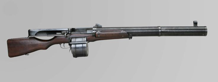 Canada during the First World War had a serious shortage of light machine guns, Joseph Huot devised a way to modify existing Ross straight-pull rifles into drum-fed light machine guns.