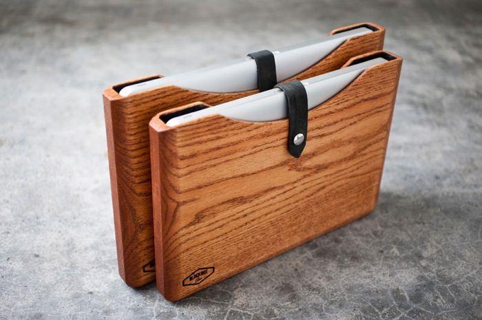 Wooden MacBook and iPad Cases