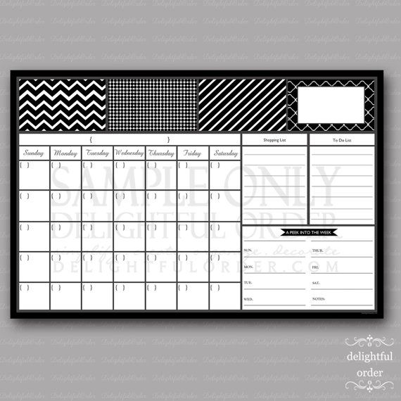 20x30 Black Everyday Family Message Center JPEG by DelightfulOrder, $25.00