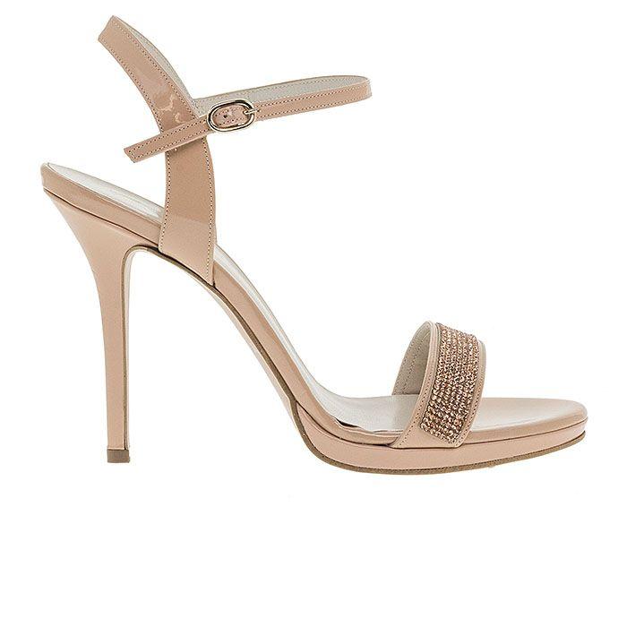 1008B31-NUDE PATENT www.mourtzi.com #sandals #heels #mourtzi #bridalshoes #nudes #bridal
