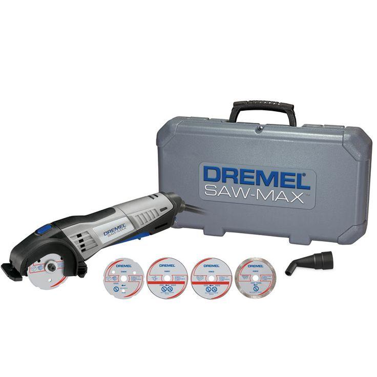 R$ 495,90 Ferramenta Rotativa Dremel Saw-Max SM20-03 710W + 4 Discos de Corte com Maleta DREMEL