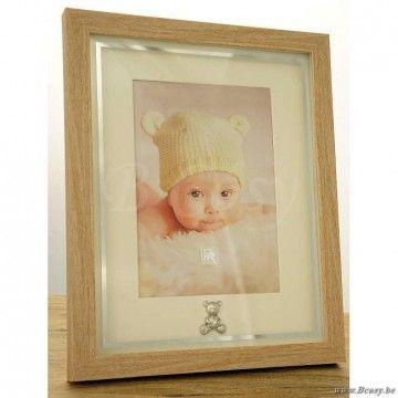 """PR Interiors Baby fotokader voor baby met zilveren beertje voor foto 10X15<span style=""""font-size: 0.01pt;""""> PR-Rogiers-Home-Interiors-HCK/1034 fotokader-fotohouder-cadre-photo-cadres-photo-fotokaders-fotohouders-photoframes-fotohoud </span>"""