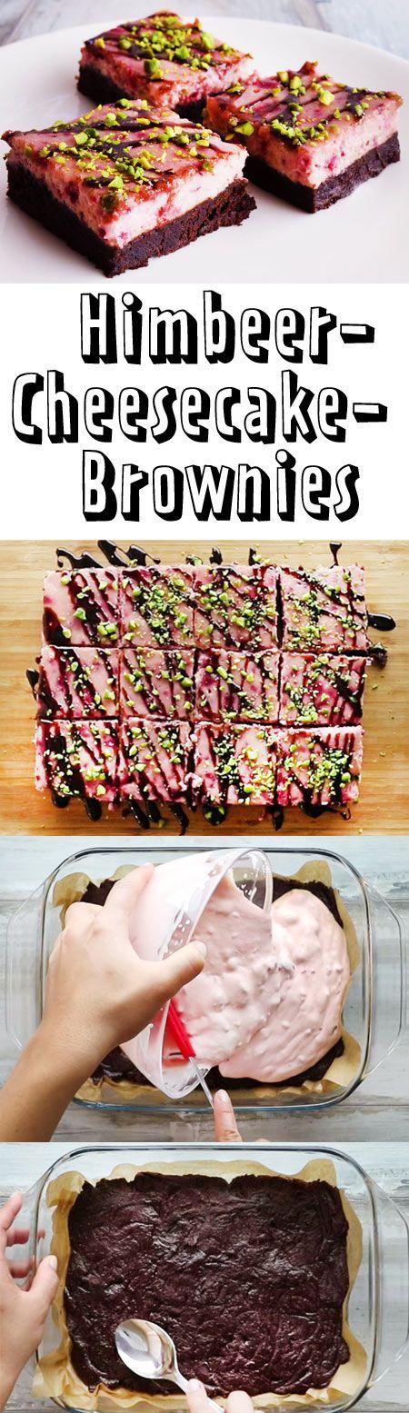 Diese Brownies sind ein echter Farbtupfer auf der Kuchentafel.