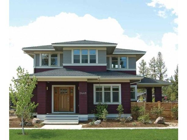 Prairie house plan with 2439 square feet and 4 bedrooms s for Prairie foursquare house plans