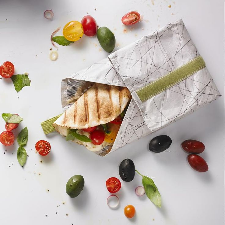Stop using ziplock bags and plastic wrap when you take a sandwich to lunch and start using a reusable Fuel Tykev Sandwich Wrap Bag.