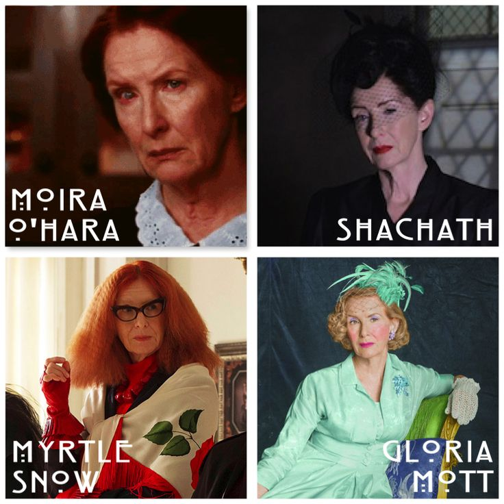 Frances Conroy's characters throughout the seasons | American Horror Story | Murder House, Asylum, Coven, Freakshow