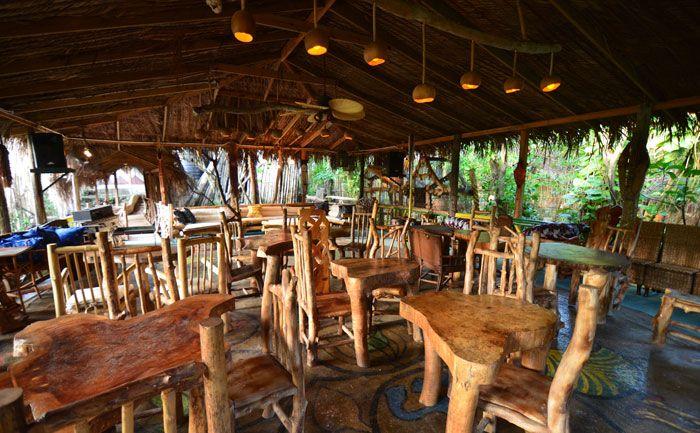 Beautifully designed safari deck restaurant at great huts