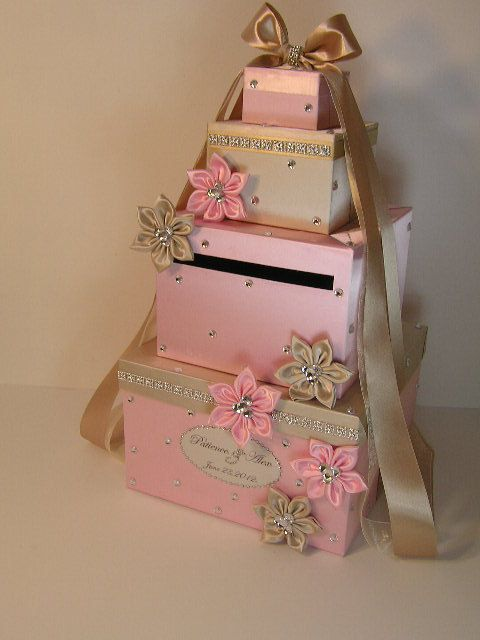 Please read my shop announcement !!!! bwithu.etsy.com  This listing is included: 4 tier card box (any color) Ribbon and bow ( any color ) 6 flowers(any color) w/rhinestones... #etsymnt