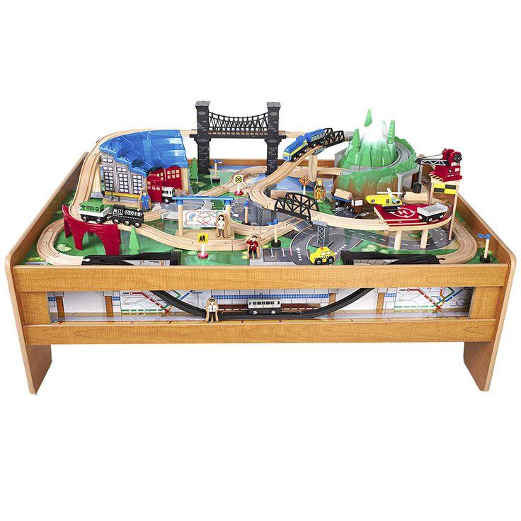 Imaginarium Metroline Train Table Natural Toys R Us