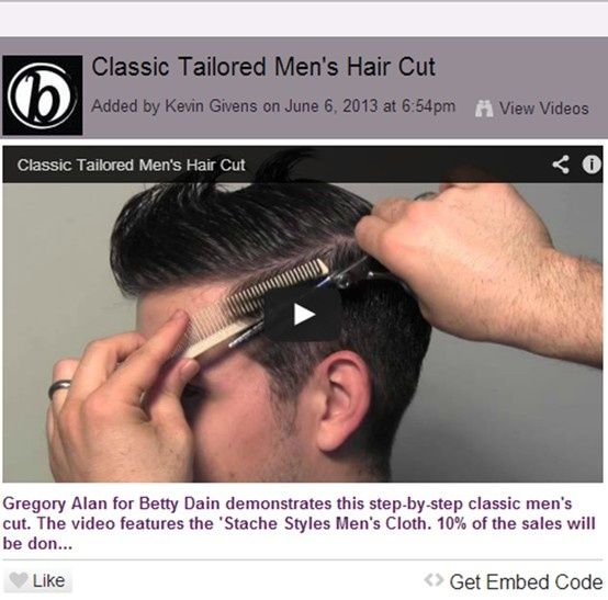 Classic Tailored Men's Hair Cut.