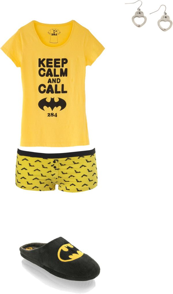 """""""Batman pajamas 3"""" by foreverbroken on Polyvore"""