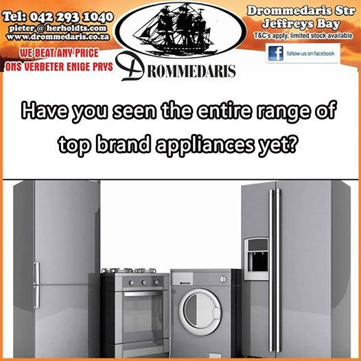 With names like Smeg, Haier and DEFY, Drommedaris has to be your first choice when it comes to buying household appliances. Visit our store in Jeffrey's Bay and make the informed choice. #appliances #homeimprovement #homedecor