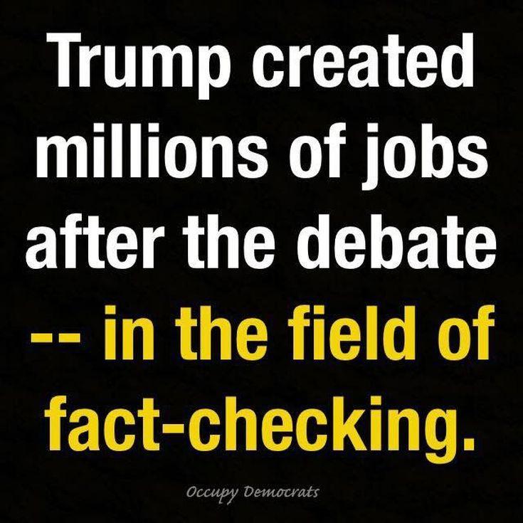 Funniest Presidential Debate Memes: Trump Creating Jobs