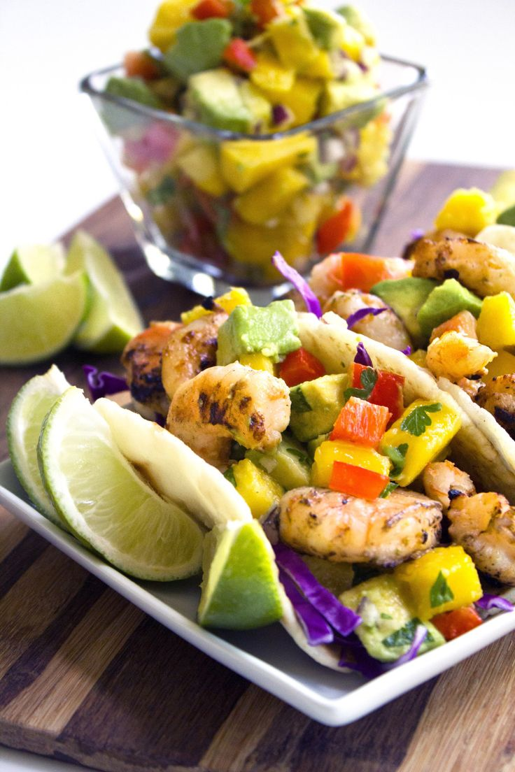 Coconut Shrimp Tacos With Tropical Salsa | Gluten and dairy free
