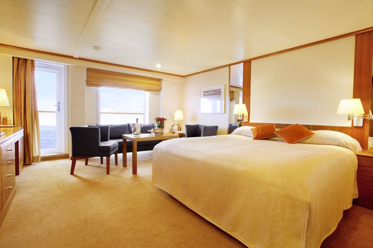 Expedition cruising still offers five-star luxury, like this suite aboard MS BREMEN. #cruise #travel