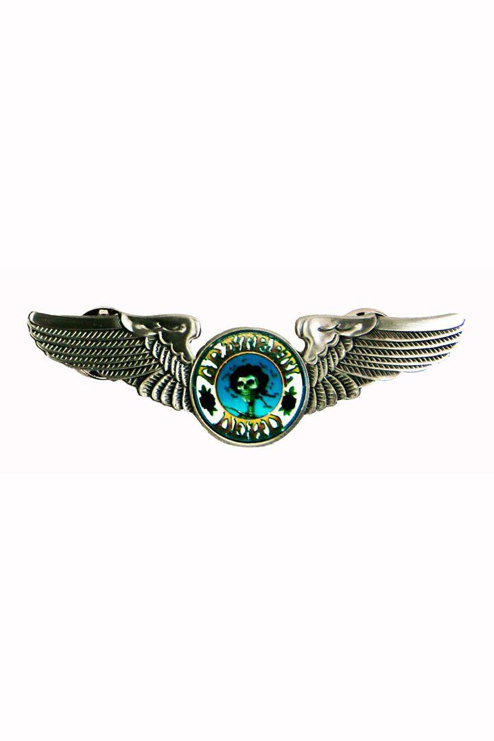 Rock Wings Grateful Dead Skull & Roses Hat Pin