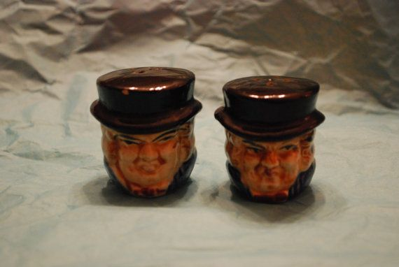 Salt & Pepper Shakers with Man's Face