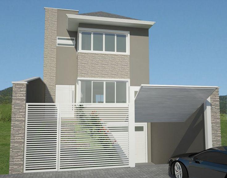 Explore 27 modelos de frentes de casas simples e modernas for Modelos de casas para construir