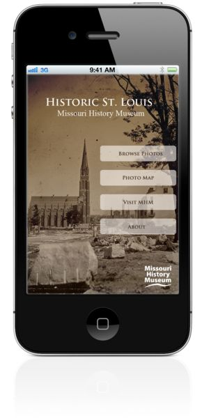 Historic St. Louis App - The Missouri History Museum's Historic St. Louis app invites you to step back in time and re-discover the city through historical photography from MHM's Photograph and Prints Collection.History App, Museums App, App Invitations, Louis App