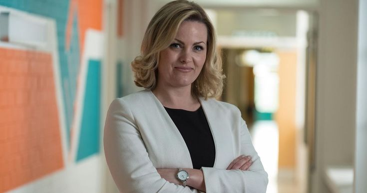 The 40-year-old actress takes on the role of Mandy Carter, battling to make her new school a success in the six-part series which starts this Wednesday night