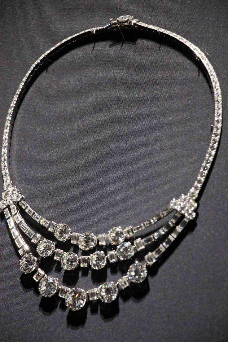 Cartier diamond necklace of Princess Grace of Monaco née Grace Kelly