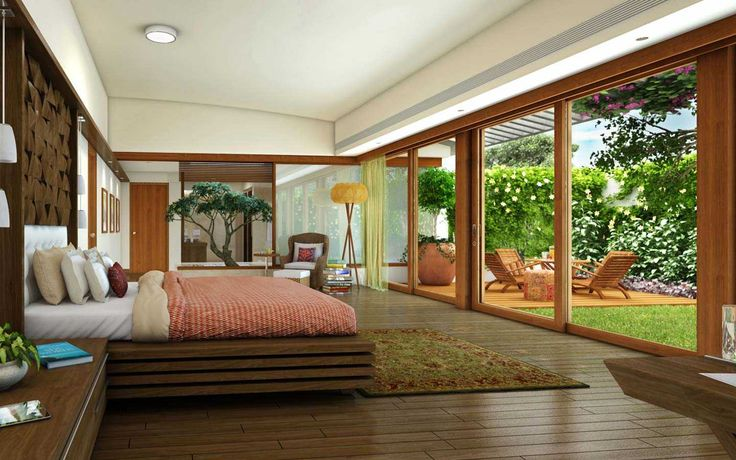 Totalenvironment real estate builders project, Meadow dance, view of earth sheltered villas bed room in Rajendranagar, Hyderabad.