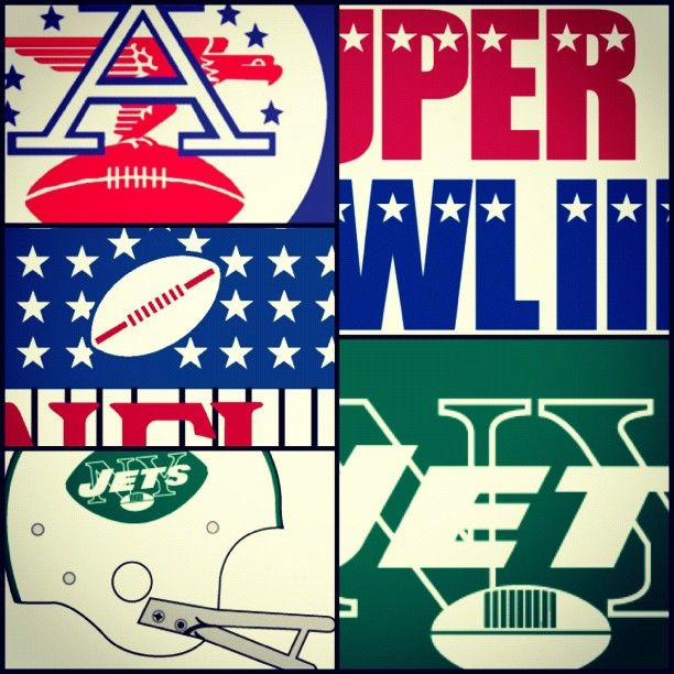 Logos of 1969 - NFL, AFL, SBIII and the Jets