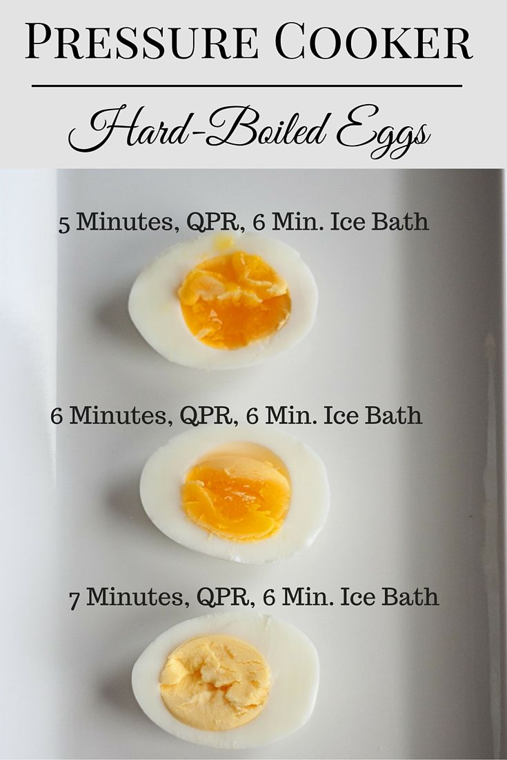 pressure cooker hard boiled eggs