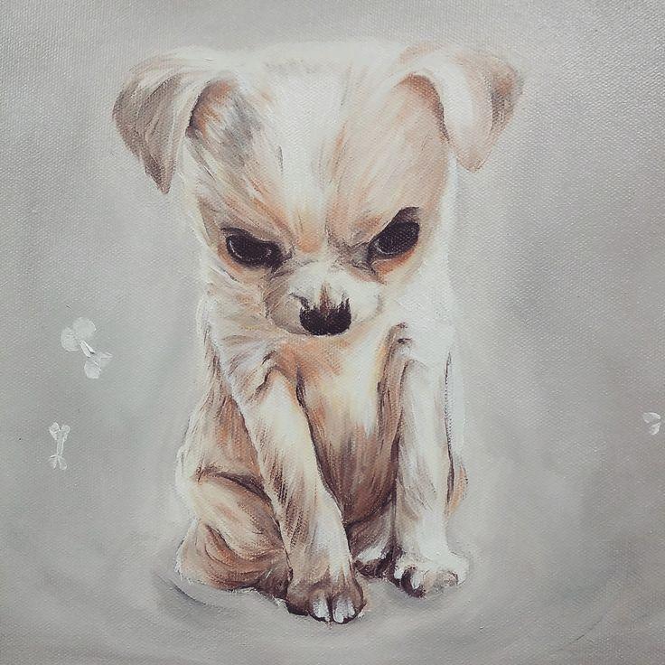my dog, Oil on canvas