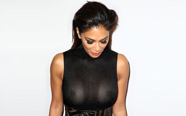 Nicole Scherzinger's Sexy Braless Dress