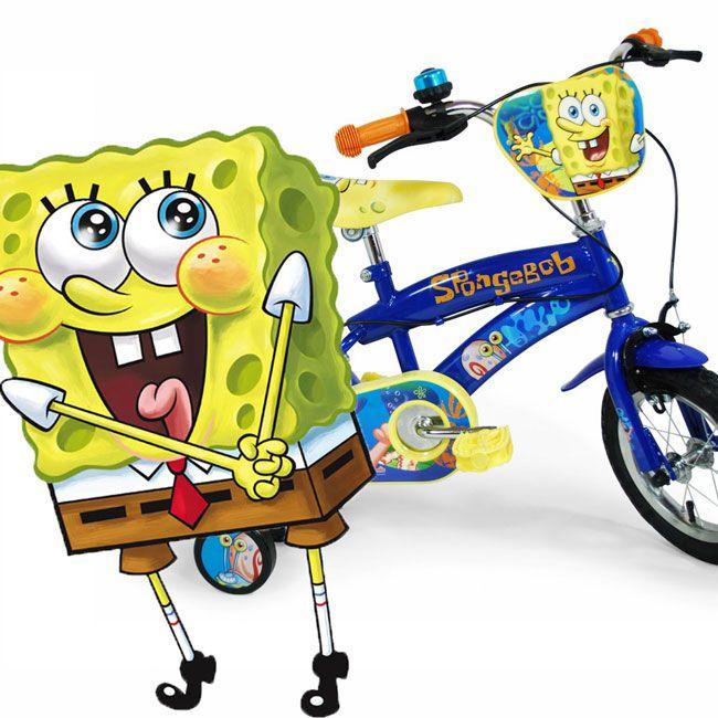 Me parece que Bob Esponja se ha enamorado de nuestra bici...