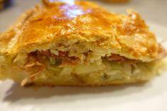 """""""Cholera"""" - Schweizerische Lauch-Kartoffel-Käse-Pastete, ein tolles Rezept aus der Kategorie Schwein. Bewertungen: 7. Durchschnitt: Ø 4,2."""