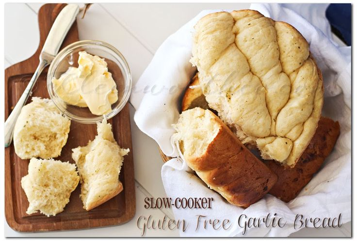 Slow Cooker Gluten Free Garlic Bread