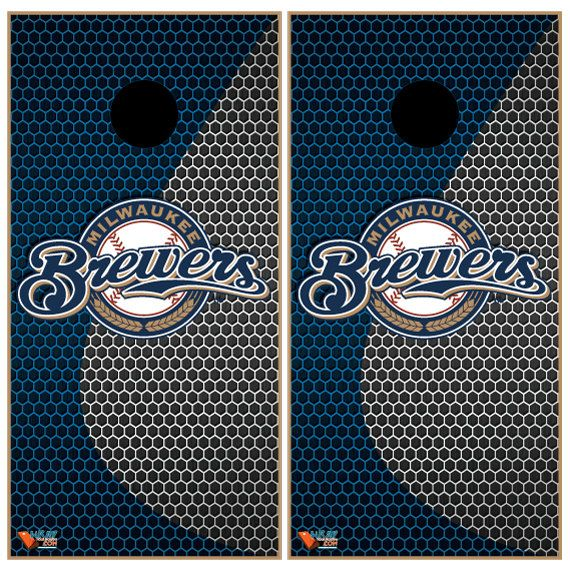 Milwaukee Brewers Cornhole Wraps by Wrapitandslapit on Etsy
