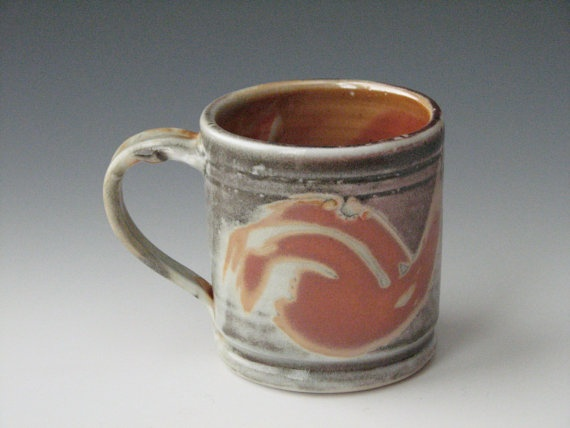 Pottery Mug Thaichi Ceramic Coffee Mug Handmade By InsCeramics