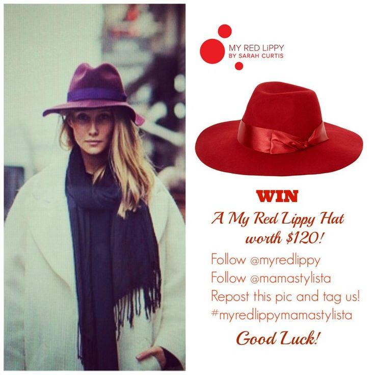 Win a My Red Lippy Hat Worth $120 - Mama Stylista