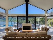 The wonderful 'Point Villas' - overlooking Lake Taupo, an excellent alternative to the lodges