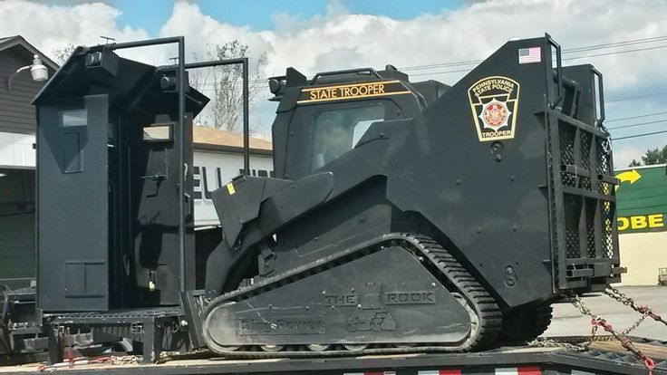 The PA State Police have a scary new toy: A riot shield bulldozer. What are they preparing for?