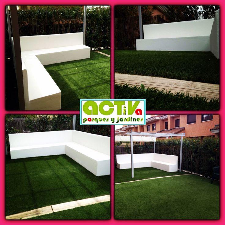 Nuevo jardin chill out con nuestro cesped activa rizo 35 - Chill out jardin ...