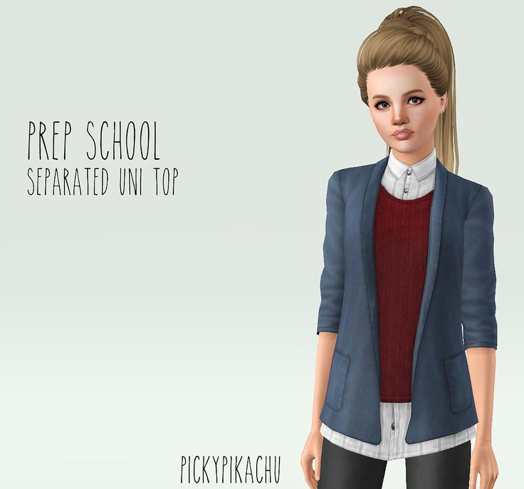 My Sims 3 Blog: Prep School - Separated Uni Top for AF by Pickypik...