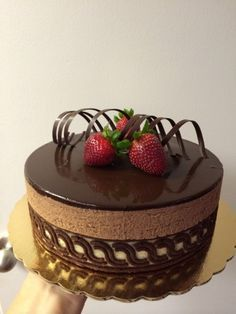 Strawberry chocolate entremet small