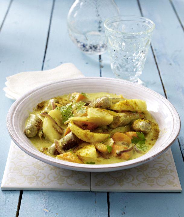 Unser beliebtes Rezept für Mairübchen-Möhren-Ragout in Currysoße mit Veggiewurst und mehr als 55.000 weitere kostenlose Rezepte auf LECKER.de.