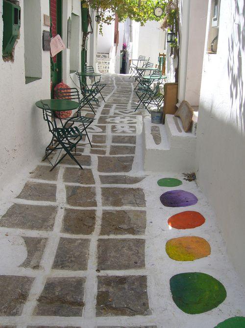 Pretty little street in Ios island ~ Greece