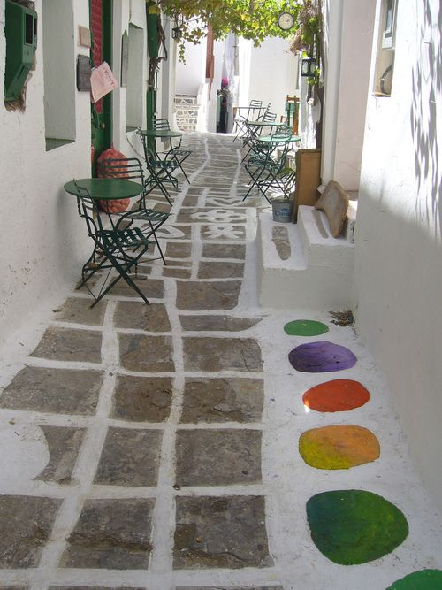 Streets of Chora, Ios, Greece  https://www.liostasi.gr/