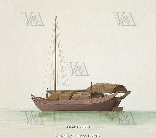 Boat to and from Dongguan. Guangzhou, China, early 19th century