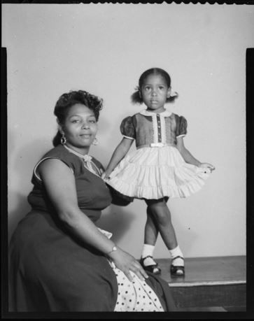 Did mama sew her dress? Did she go to dance classes? (Pinned by the National Museum of African American History and Culture - without caption.)