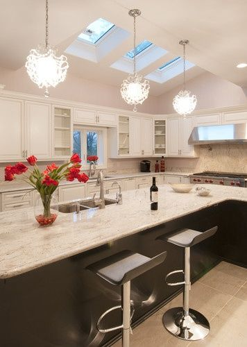 Individual Skylight or Continuous Modular Skylight installed in a kitchen…